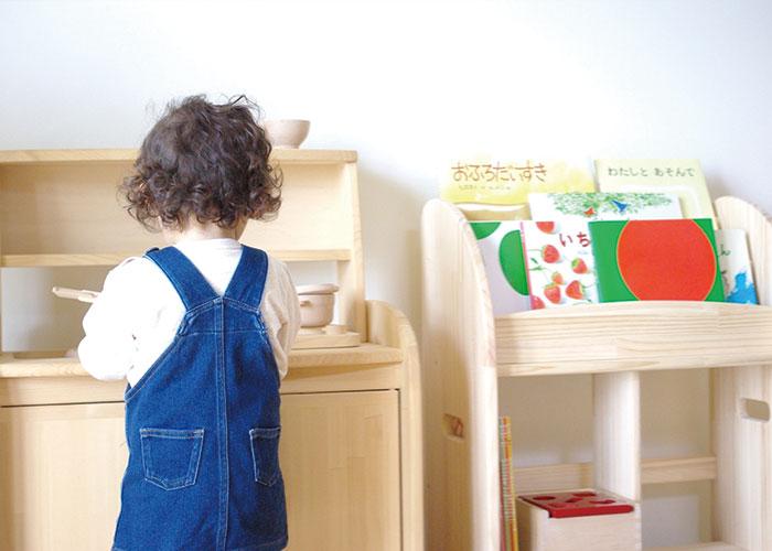 木遊舎 ひのきキッチンテーブルフルセット ままごとキッチン 子ども家具